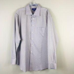 Egara Slim Fit Dress Shirt B/O Stripe